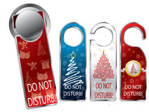 Christmas design privacy labels royalty free illustration