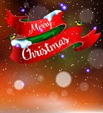 Merry Christmas and Happy Hew Year Stock Images