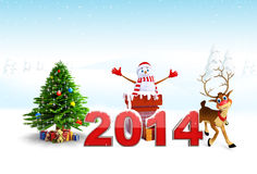 Christmas Design Set and New Year Text Royalty Free Stock Photos