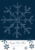 Christmas design with snowflakes Royalty Free Stock Photos