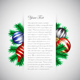 Christmas Design Template Stock Photography