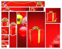 Christmas Design Template Stock Images