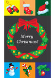 Christmas design template card Royalty Free Stock Photos
