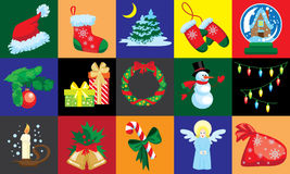 Christmas design template card Royalty Free Stock Images