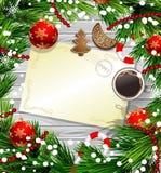 Christmas design on wood Stock Image