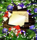 Christmas design on wood Royalty Free Stock Photo