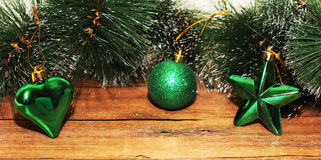 Christmas design on the wooden background Stock Image