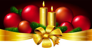 Christmas design with xmas balls Royalty Free Stock Image