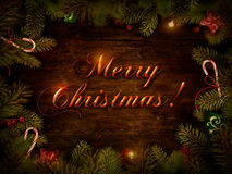 Christmas design - Xmas wreath Royalty Free Stock Photo