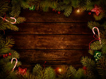 Christmas design - Xmas wreath Stock Images