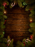 Christmas design - Xmas wreath Royalty Free Stock Images