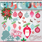 Christmas designs collection Stock Photos
