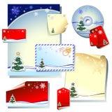 Christmas Designs Set Stock Photography