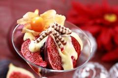 Christmas dessert Stock Photos