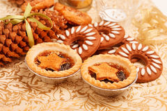 Christmas dessert. On the table Royalty Free Stock Photo