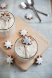Christmas Dessert with cinnamon star cookies Royalty Free Stock Photos