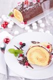 Christmas dessert. Close up on christmas dessert Royalty Free Stock Image