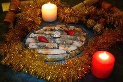 Christmas dessert. A delicious chocolate mint and custard dessert Stock Photo