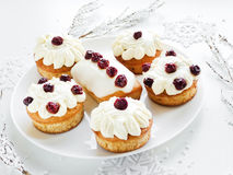 Christmas dessert Royalty Free Stock Photo