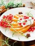 Christmas dessert Royalty Free Stock Photography