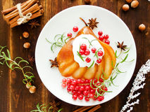 Christmas dessert Royalty Free Stock Image
