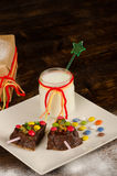 Christmas dessert Stock Image