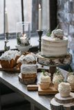 Christmas dessert table royalty free stock images