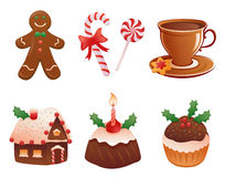 Christmas desserts Stock Image
