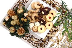 Christmas desserts and cookies from czech republic Royalty Free Stock Image
