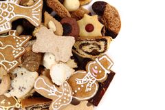 Christmas desserts and cookies from czech republic Stock Image