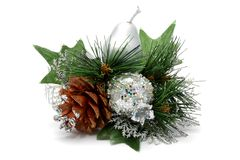Christmas details in silver Royalty Free Stock Photos
