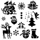 When Christmas is Near and Its Mood is Everywhere. Seasonal Icons stock illustration