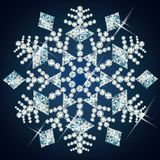 Christmas Diamond snowflake,  Royalty Free Stock Photos