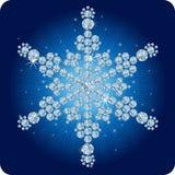 Christmas Diamond snowflake / vector illustration Royalty Free Stock Photo