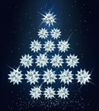 Christmas diamond tree.  Stock Photography