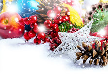 Christmas. Different Christmas decorations that still life Stock Photo