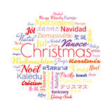 Christmas in different foreign languages Stock Photo