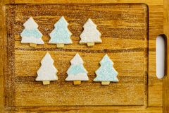 Christmas different form cookies winter selebration background. Royalty Free Stock Images