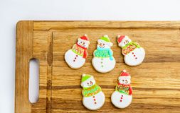 Christmas different form cookies winter selebration background. Royalty Free Stock Photography