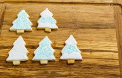 Christmas different form cookies winter selebration background. Royalty Free Stock Photos