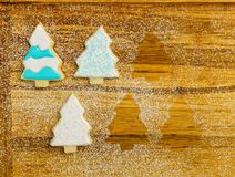 Christmas different form cookies winter selebration background. Stock Images