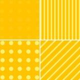 Christmas different orange patterns. Royalty Free Stock Image