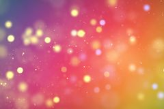 Christmas digital glitter sparks multi color particles bokeh flo Royalty Free Stock Image
