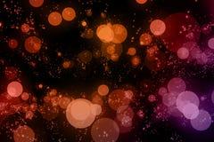 Christmas digital glitter sparks multi color particles bokeh flo Stock Image