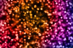 Christmas digital glitter sparks multi color particles bokeh flo Stock Photography