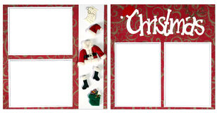 Christmas Digital Scrapbook Page Stock Images