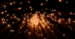 Christmas digital sparks golden particles bokeh explosion on black background stock footage