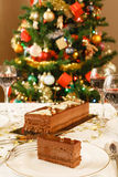 Christmas dining room royalty free stock images