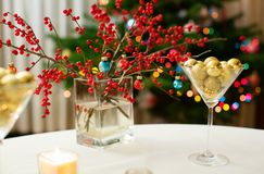 Christmas dining table Royalty Free Stock Photos