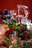Christmas dining table Royalty Free Stock Photography